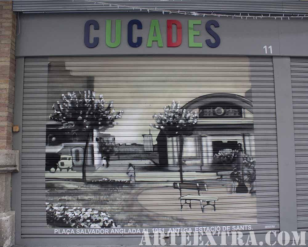 Antigua Estacion de Sants en graffiti por ARTEEXTRA