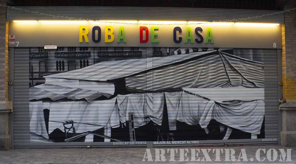 Antiguo Mercado de Sants en graffiti por ARTEEXTRA