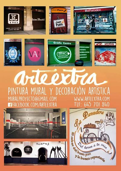 ArteExtra flyer decoracion general para Contacto