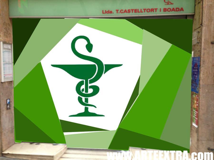 Boceto decoración graffiti persiana de farmacia 2