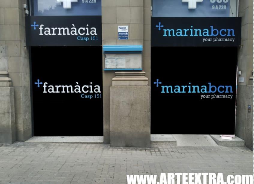 Boceto decoración graffiti persiana de farmacia 3