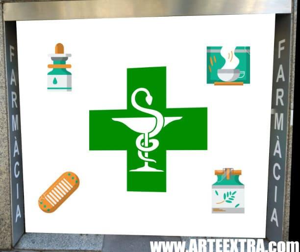 Boceto decoración graffiti persiana de farmacia 4