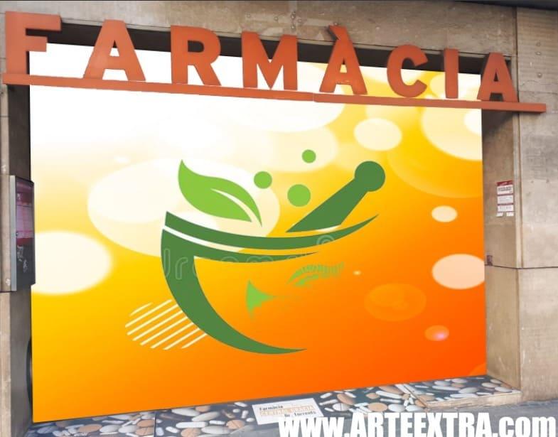 Boceto decoración graffiti persiana de farmacia 8