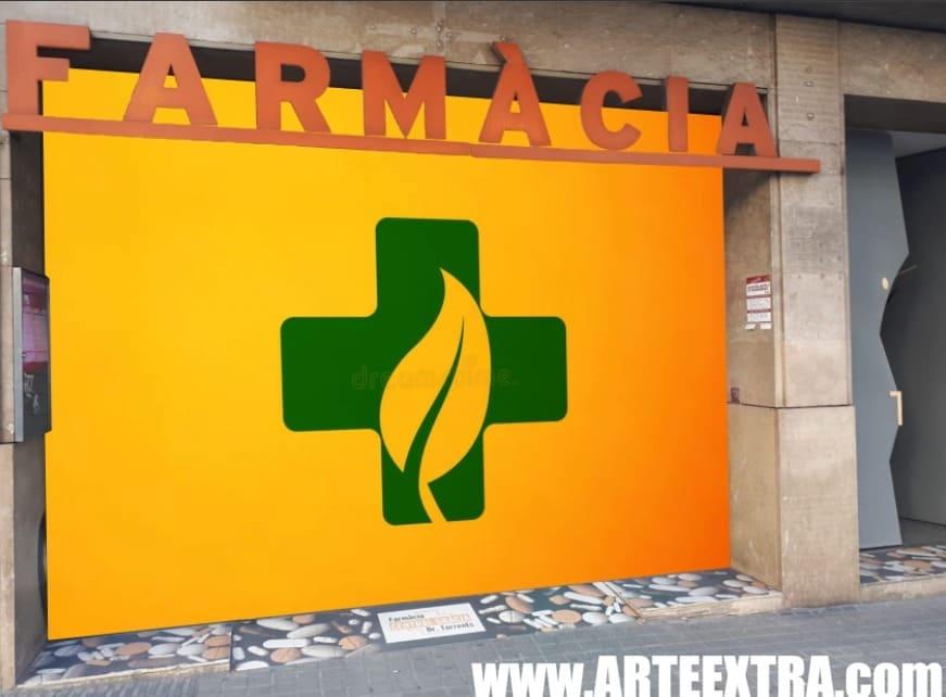 Boceto decoración graffiti persiana de farmacia 9