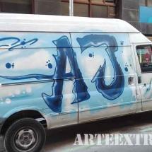 Camioneta-pintura-graffit-barcelona-decoracion-arteextra