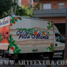 Decoración personalizada camión Villa Maria en Sant Martí Barcelona