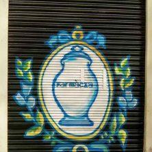 Decoración persiana graffiti en Barcelona - Gràcia 2