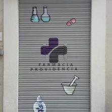 Decoración persiana graffiti en Barcelona - Gràcia