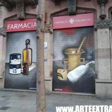 Decoración persiana graffiti en Barcelona - Sants