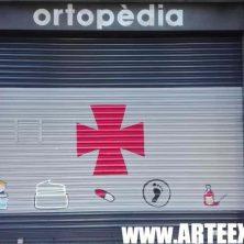 Decoración persiana graffiti en Esplugues de Llobregat