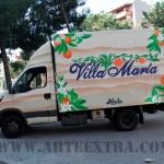 Decoración personalizada camión Villa Maria en Sant Martí Barcelona por ARTEEXTRA