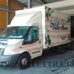 Decoración personalizada camión Villa María en Zona Franca Barcelona