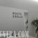 Detalle decoración mural profesional rotulada para Roots Roll en Barcelona por ArteExtra