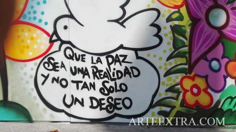 Detalle mural graffiti Pena Betica Rubi ArteExtra 2019