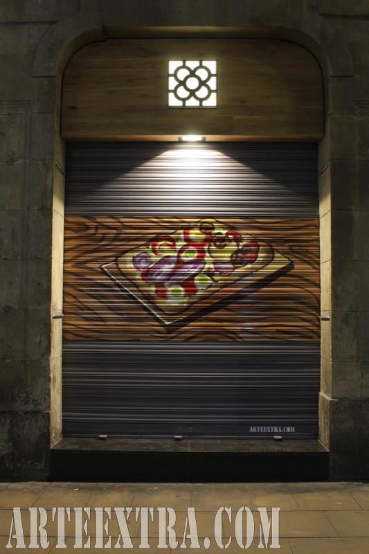 Detalle persiana metálica - 1 - Forns del Pi - Ciutat Vella Barcelona - ArteExtra 2018