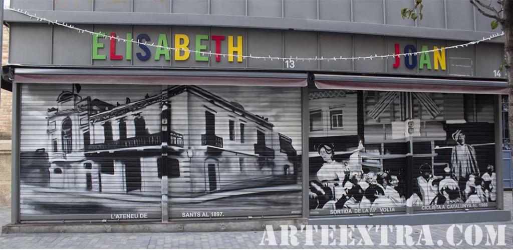 Doble persiana metalica decorada graffiti por ARTEEXTRA