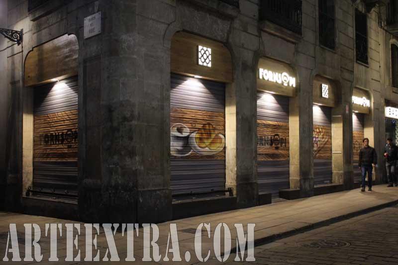 Esquina decoración graffiti - Forns del Pi - Ciutat Vella Barcelona - ArteExtra 2018