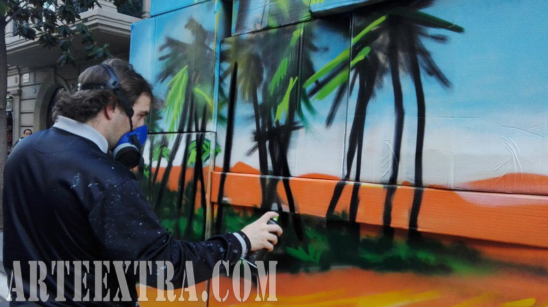 Evento exhibición graffiti Festa del Comerç Gran de Gràcia - ArteExtra Barcelona