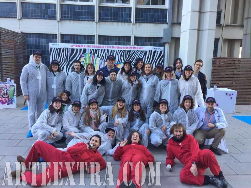 Evento graffiti teambuilding Institut Catala Oncòlogia L'Hospitalet - ArteExtra Barcelona