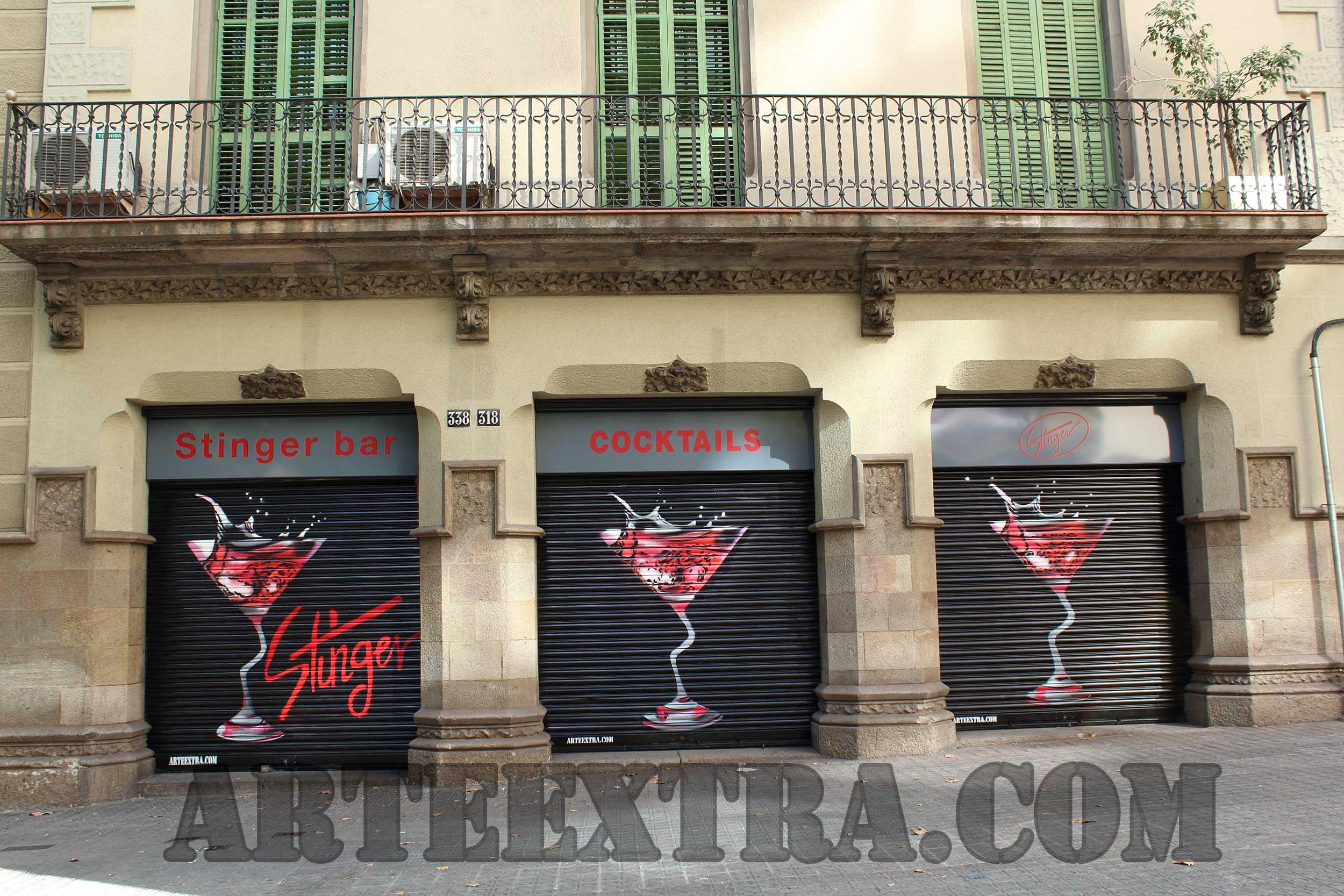Persianas graffiti decoraci n murales en barcelona arteextra - Persianas en barcelona ...