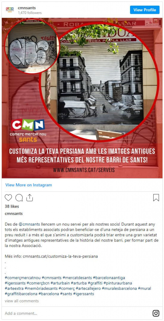 Instagram Comerç Mercat Nou ARTEEXTRA Barcelona