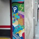 mural exterior barcelona parking