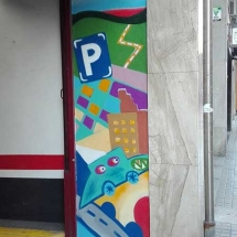 mural exterior barcelona parking