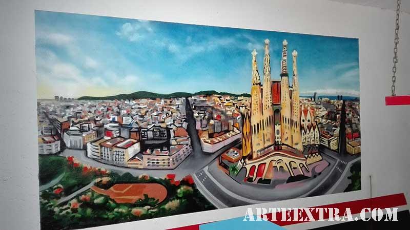 mural interior exterior esprays barcelona