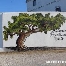 Mural decorativo exterior artístico