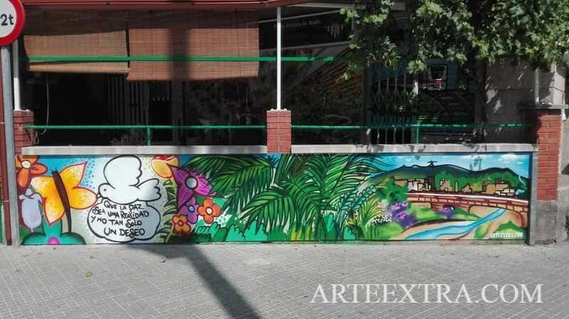 Mural graffiti Pena Betica Rubi ArteExtra 2019