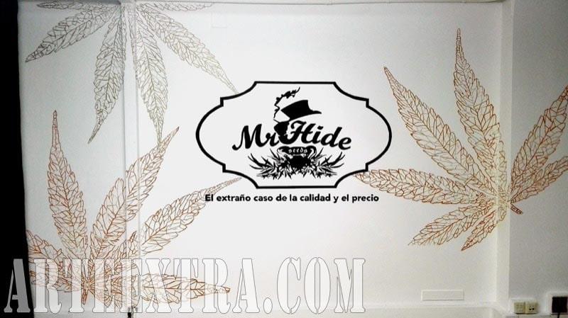 Mural graffiti proyectado Mr Hide Barcelona - ArteExtra 2018