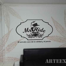 Decoración grafiti oficinas logotipo dibujo barcelona