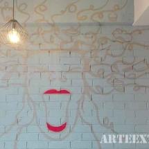 Mural interior para pastelería en Eixample, Barcelona
