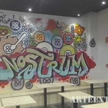 Mural graffiti interior espays Barcelona