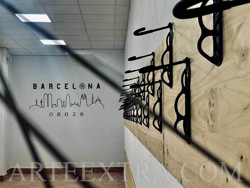 Mural interior parking bicicletas Barcelona - ArteExtra