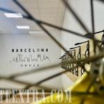 Mural interior skyline Barcelona realizado graffiti por Arte Extra