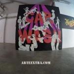 Mural pintura graffiti ArteExtra Barcelona