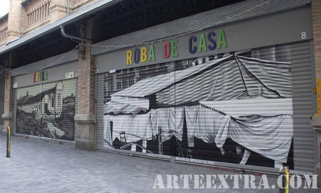 PR Vista general decoracion graffiti en Barcelona por ARTEEXTRA