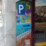 Paredes entrada parking decoradas graffiti en Eixample Barcelona ArteExtra - 2