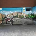 Decoración parking graffiti en calle Ali-Bei puente Marina en Barcelona por ArteExtra