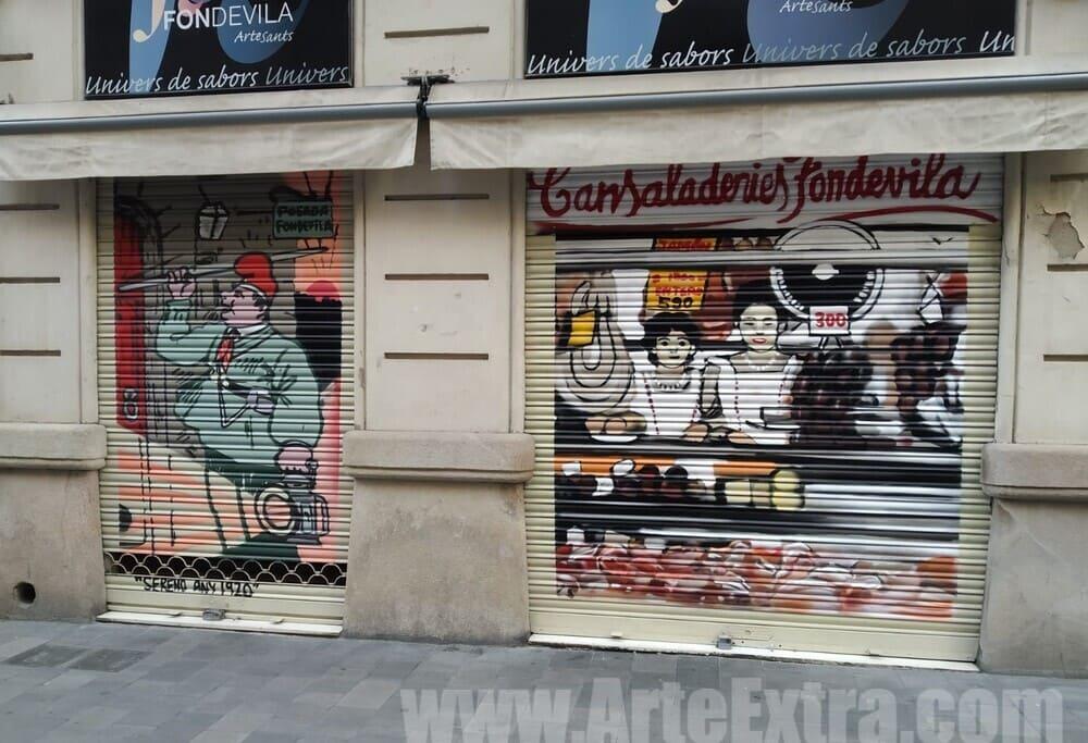 Persiana decorada Cansaladeries Fontdevila por ArteExtra
