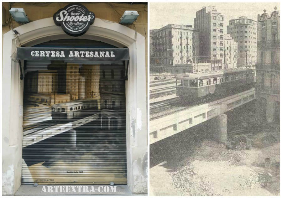Persiana graffiti Cerveceria Artesanal Beershoter Sants Barcelona ArteExtra