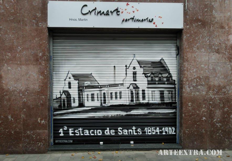 Persiana graffiti Crimart 1 Sants Barcelona ArteExtra