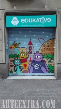 Persiana graffiti Edukativa Eixample Dret Barcelona 2017