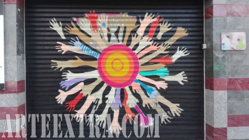 Persiana graffiti Llar Infants L'Heura Eixample 2017