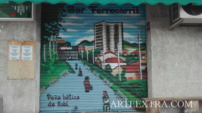 Persiana graffiti Peña Bética Rubí - ArteExtra 2019