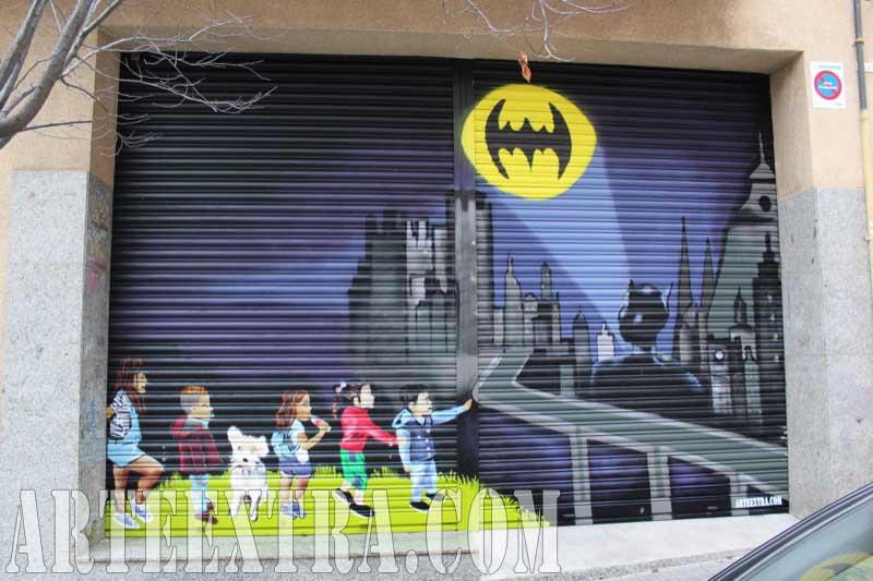 Persiana graffiti local comercial Batman Badalona 2017