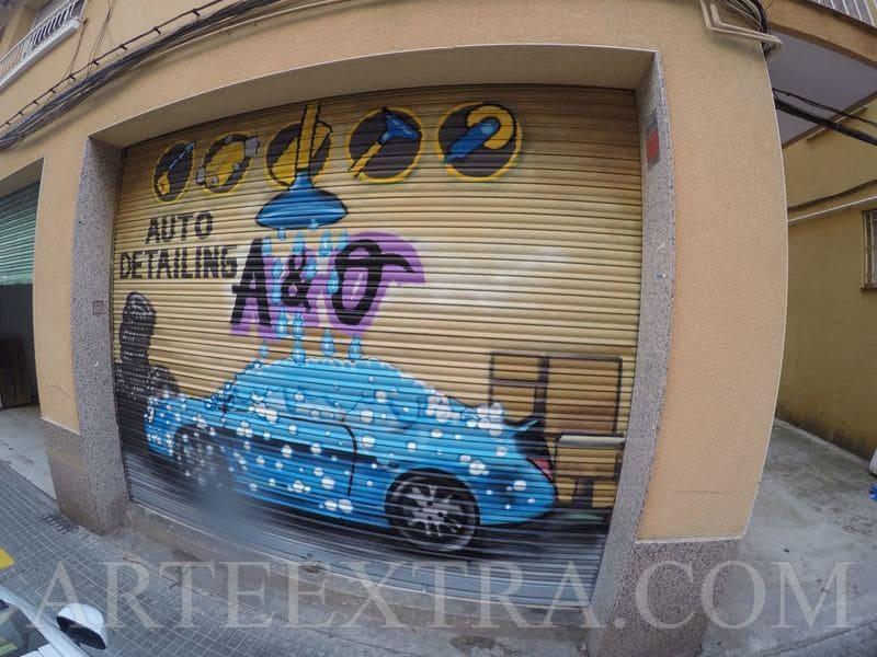 Persiana metálica exterior Túnel de Lavado Barcelona - ArteExtra