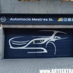 Persiana taller mecánico AUTOMOCIÓ MESTRES en Gràcia Barcelona