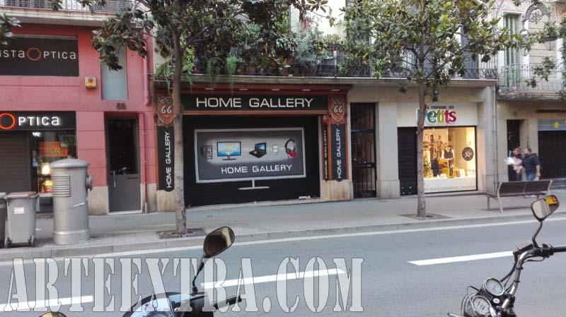 Plano general persiana graffiti Home Gallery Barcelona - ArteExtra 2018